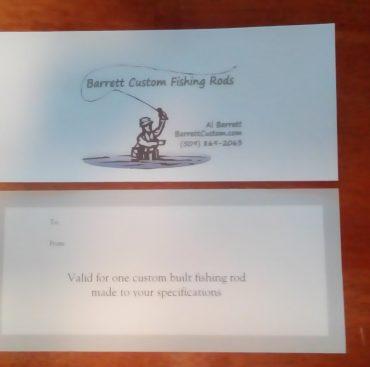 Barrett Custom Gift Certificate!